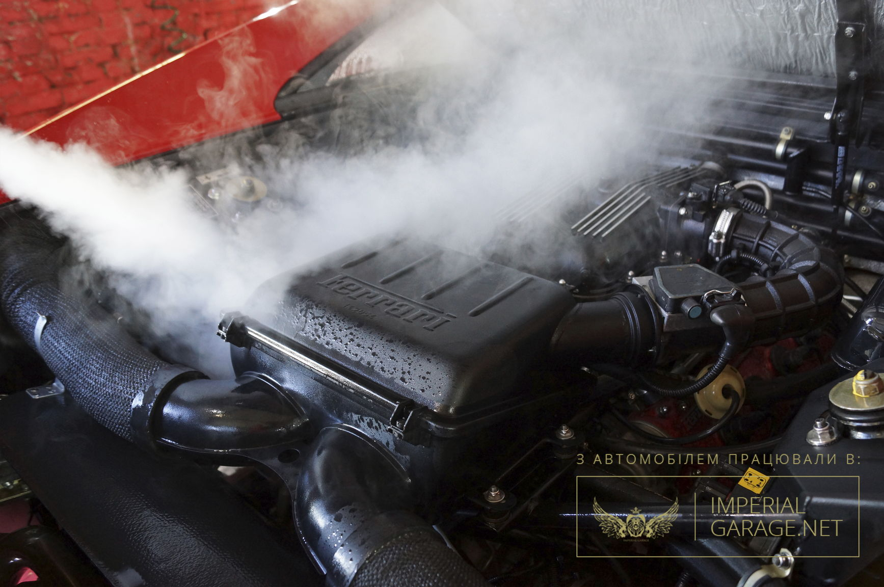 Безпечна мийка двигуна парою
